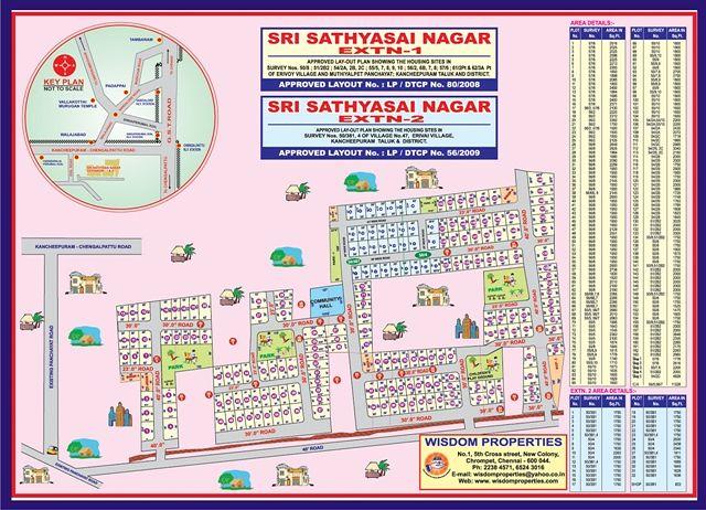 Sri Sathya Sai Nagar - Master Plans